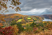 New England Fall Foliage Art - Connecticut Country by Bill  Wakeley