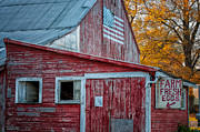 Old Barns Metal Prints - Connecticut Farmstand Metal Print by Thomas Schoeller