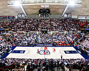 Basketball Sports Prints - Connecticut Huskies Harry A. Gampel Pavilion Print by Replay Photos
