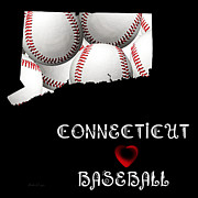 Baseball Teams Posters - Connecticut Loves Baseball Poster by Andee Photography