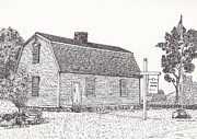 18th Century Drawings - Connecticut Revolutionary War Office  by Michelle Welles