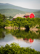 Red Barn. New England Framed Prints - Connecticut River Farm Framed Print by Edward Fielding