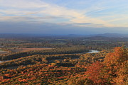 Autumn Foliage Photos - Connecticut River Valley in Autumn from Mount Holyoke by John Burk