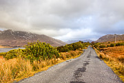 Winter Roads Art - Connemara Roads - Irish Landscape by Mark E Tisdale