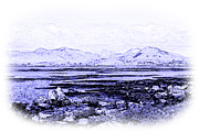 Blue And White Porcelain Prints - Connemara Shore Print by Jane McIlroy