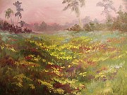 Jesus Painting Originals - Consider how the Wild Flowers Grow by Beth Arroyo