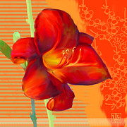 Floral Prints Mixed Media Posters - Consider the Lily Poster by Valerie  Drake Lesiak