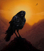 Wacom Tablet Prints - Consider The Ravens Print by Jephyr Art