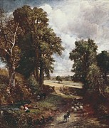 The Cornfield Framed Prints - Constable, John 1776-1837. The Framed Print by Everett