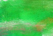 Emerald Green Abstract Paintings - Constant Emerald Green by L J Smith