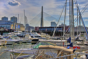Zakim Bridge Photos - Constitution Marina and the Zakim by Joann Vitali