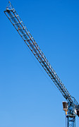 Frame House Metal Prints - Construction Crane 01 Metal Print by Antony McAulay