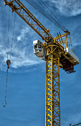 Frame House Metal Prints - Construction Crane Asia Metal Print by Antony McAulay