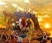 Henryk Paintings - Constructors of Time by Henryk Gorecki