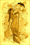 Gown Painting Originals - Consultation in Sepia by Beverley Harper Tinsley
