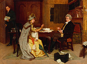 Wig Paintings - Consulting her Lawyer by Frank  Dadd