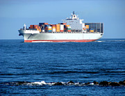 Commerce Photo Prints - Container Ship Print by Olivier Le Queinec