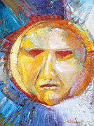 Geometric Abstraction Mixed Media - Contemplating the Sun by Randy Wollenmann