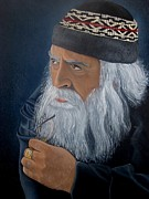 Wise Old Man Paintings - Contemplation by Surina Nel