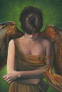 Virtue Paintings - Contemplative by Carol Heyer