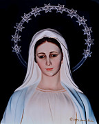 Statue Portrait Art - Contemplative Our Lady Queen of Peace  by Susan Duda
