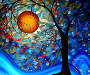 Sun Studios Prints - Contemporary Modern Art Original Abstract Landscape Painting Blue Essence by Megan Duncanson Print by Megan Duncanson