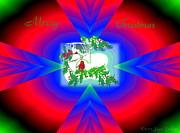 Joyce Dickens - Contemporary Neon Merry Christmas