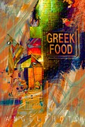Greek Digital Art - Continental Corner by Wendy Mogul