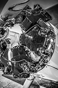 Airplane Radial Engine Photos - Continental R670 by Chris Smith
