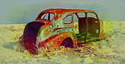 Antique Automobiles Mixed Media Posters - Continuing To Give Poster by Dennis Buckman