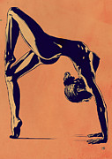 Girl Drawings Posters - Contortionist Poster by Giuseppe Cristiano