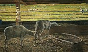 Animalia Framed Prints - Contrast of light Framed Print by Giovanni Segantini