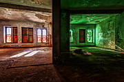 Abandoned Buildings Framed Prints - Contrasting Rooms Framed Print by Bryan Levy
