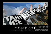 Law Enforcement Prints - Control Inspirational Quote Print by Stocktrek Images