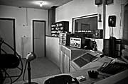 White Walls Metal Prints - Control room in Alcatraz Prison Metal Print by RicardMN Photography