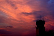 Pierre Chamblin Metal Prints - Control Tower Metal Print by Pierre Chamblin