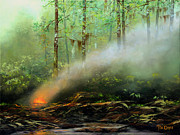 Deforestation Paintings - Controlled Burn by Tim Davis