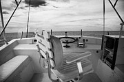 Angling Framed Prints - Controls On The Flybridge Deck Of A Charter Fishing Boat In The Gulf Of Mexico Out Of Key West Framed Print by Joe Fox