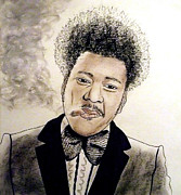 Larry Drawings - Controversial Fight Promoter Don King  by Jim Fitzpatrick