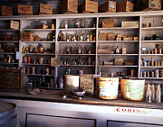 Old Pyrography Posters - Convenience Store In Ghost Town  Poster by Armando Arorizo