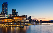 Floatplane Prints - Convention Centre Sunset Print by Alexis Birkill