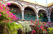 Bougainvilleas Prints - Convento de La Popa Cartagena Print by Kurt Van Wagner