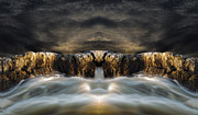 Waterfalls Posters - Convergence  Poster by Bob Orsillo