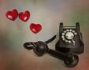 Handset Prints - Conversation of Love Print by David and Carol Kelly