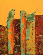 Featured Painting Metal Prints - Conversations Metal Print by Laura Sue