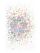 Patterned Drawings Metal Prints - Convexity Metal Print by Regina Valluzzi
