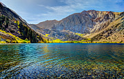 Convict Lake Art - Convict Lake Fall Color by Mike Ronnebeck