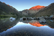 Marco Framed Prints - Convict Lake First Light Framed Print by Marco Crupi