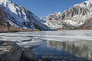 Frozen Lake Photos - Convict Lake Morning by Sandra Bronstein
