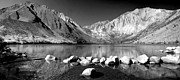 Convict Lake Art - Convict Lake Pano in Black and White by Lynn Bauer